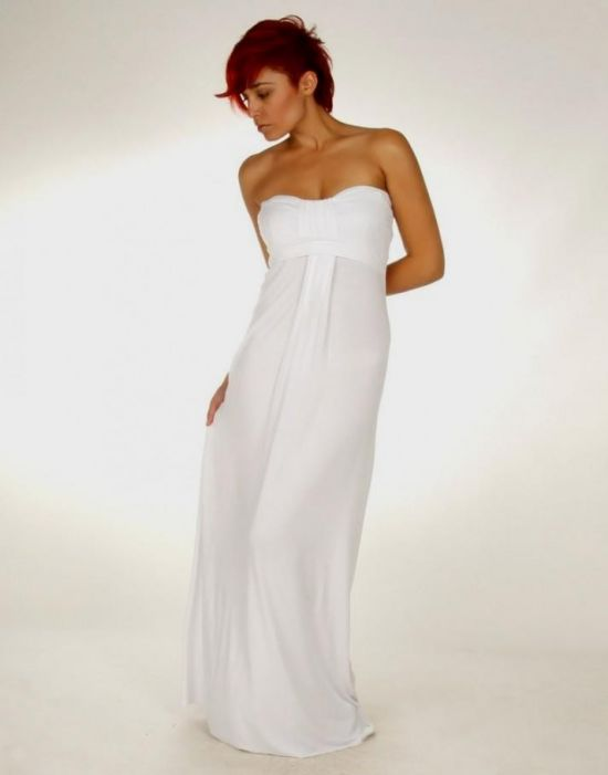 long white strapless maxi dress 2016-2017 » B2B Fashion