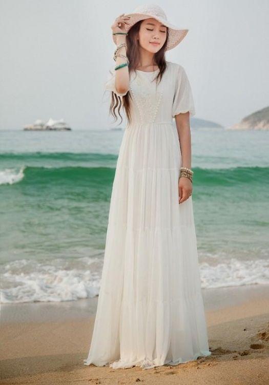 long white summer maxi dress 2016-2017 | B2B Fashion