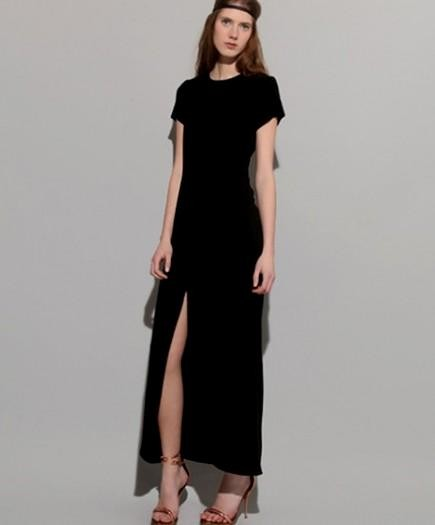 Images of Maxi Dress With Short Sleeves - Reikian