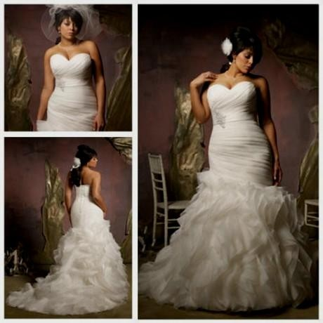 Mermaid wedding dresses for plus size women 2016 2017 for Plus size mermaid wedding dresses with sleeves