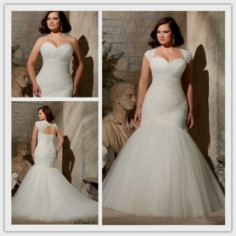 Mermaid Wedding Dresses For Plus Size Women 2016 2017