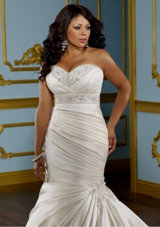 Mermaid wedding dresses for plus size women 2016 2017 for Wedding dresses for plus size ladies