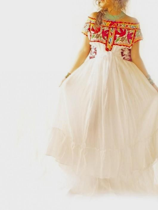 Embroidered Mexican Wedding Dress - Image Wedding Dress Imagemax.co