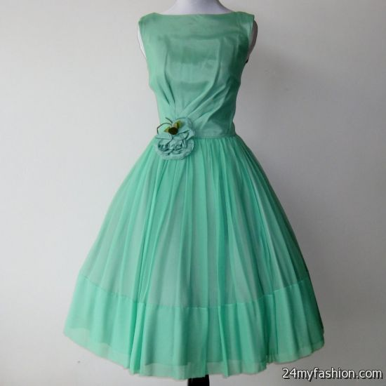 mint green cocktail dress