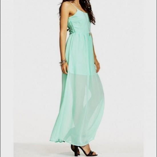 mint green maxi dress forever 21 2016-2017 | B2B Fashion