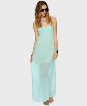 mint green maxi dress forever 21 2016-2017 | B2B Fashion