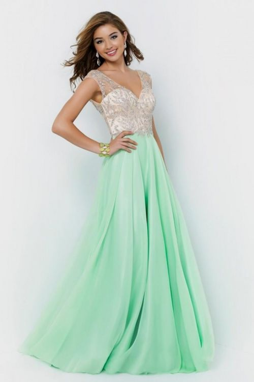 Image result for MINT COLOR GOWN