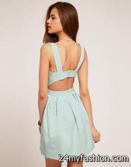 mint skater dress with cutouts 2016-2017 » B2B Fashion