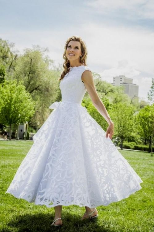 Modest Wedding Dresses In Houston Tx : Modest wedding dresses tea length b fashion