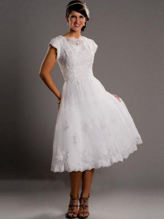 Modest wedding dresses tea length 2016 2017 b2b fashion for Modest elegant wedding dresses