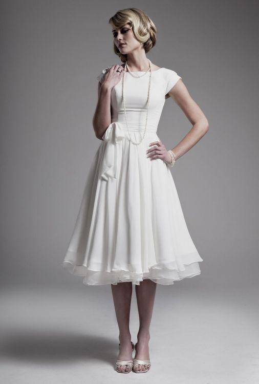 Modest Wedding Dresses Tea Length 2016 2017 B2b Fashion