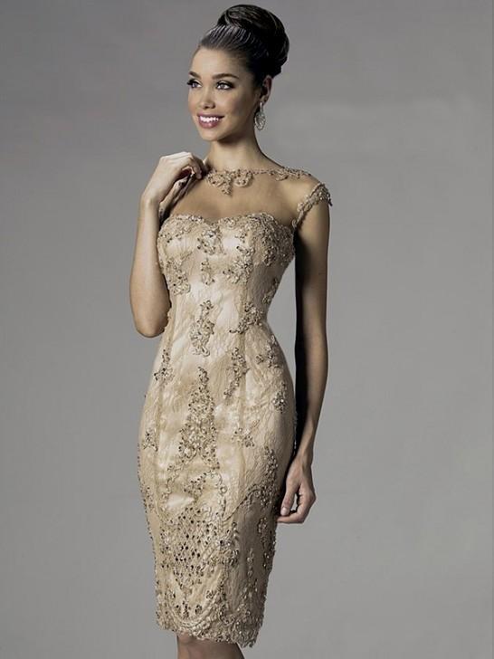 Knee Length Beaded Dresses