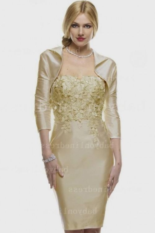 Mother Of The Bride Dresses Knee Length With Jacket 2016
