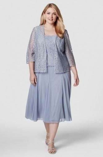 Plus Size Tea Length Mother Of The Bride Dresses 98