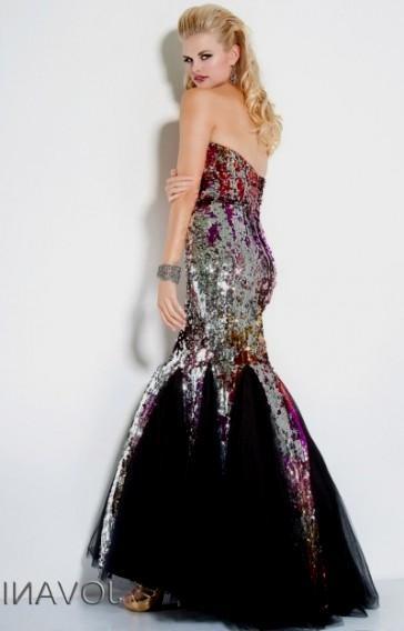 Multi colored sequin prom dresses