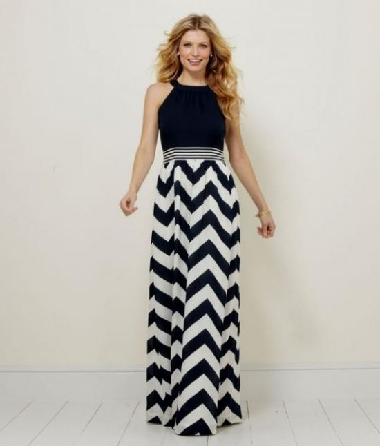 nautical chevron maxi dress 2016-2017 » B2B Fashion