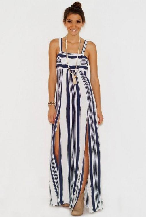 Nautical Maxi Dress Looks B2b Fashion