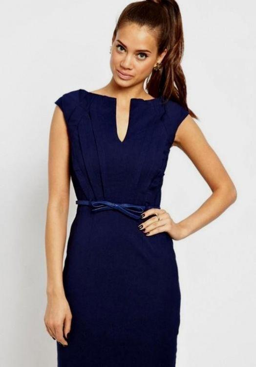 Navy Blue Knee Length Dresses Looks B2b Fashion