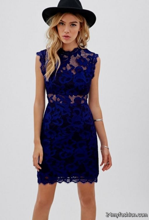 85e5e80df0f1 Cocktail dresses, short prom dresses, homecoming dresses and holiday party  dresses. You can share these navy blue lace dress forever 21 ...