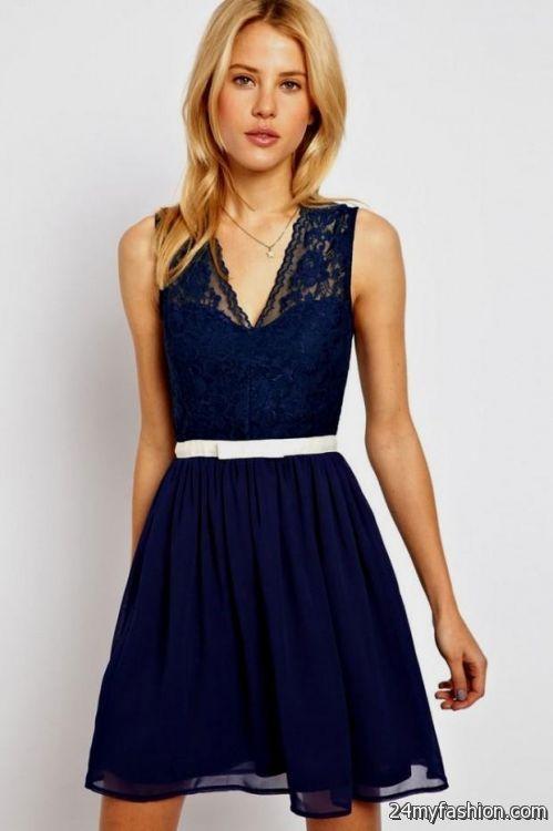 navy blue lace skater dress 20162017 b2b fashion
