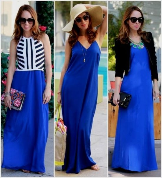 da92d39deba4 You can share these navy blue maxi dress outfit on Facebook