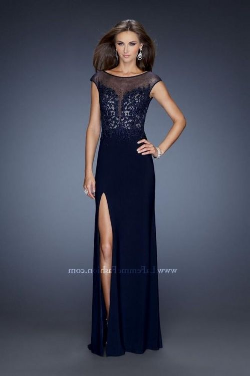 Navy Blue Prom Dress Photo Album - Reikian