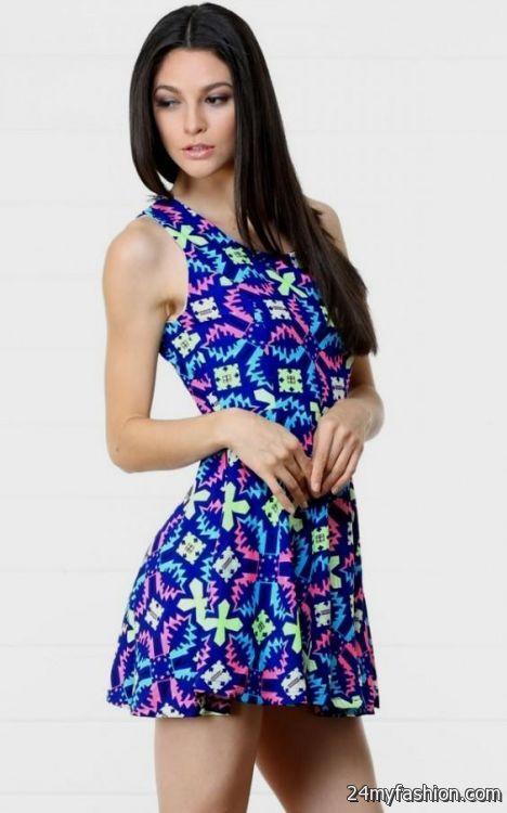 neon blue skater dress 2016-2017 » B2B Fashion