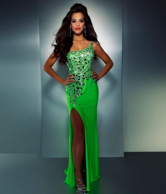 Black and neon green dress - Best Dressed