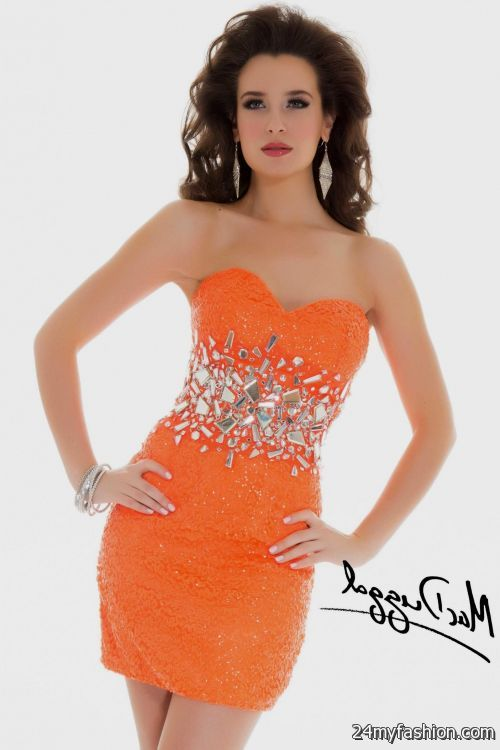 neon orange prom dress neon orange homecoming dresses 2016