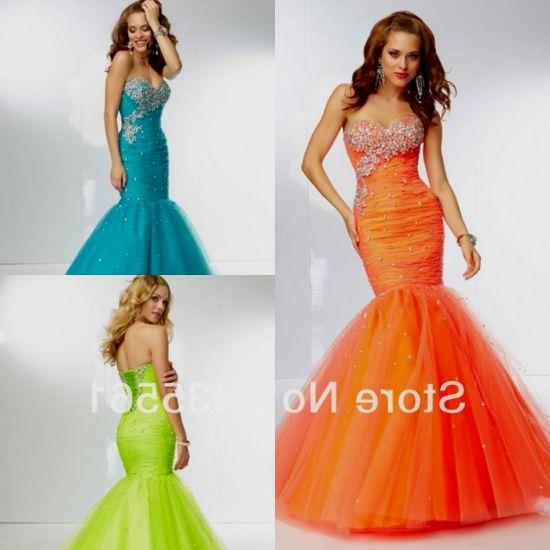Neon Mermaid Prom Dresses 2018