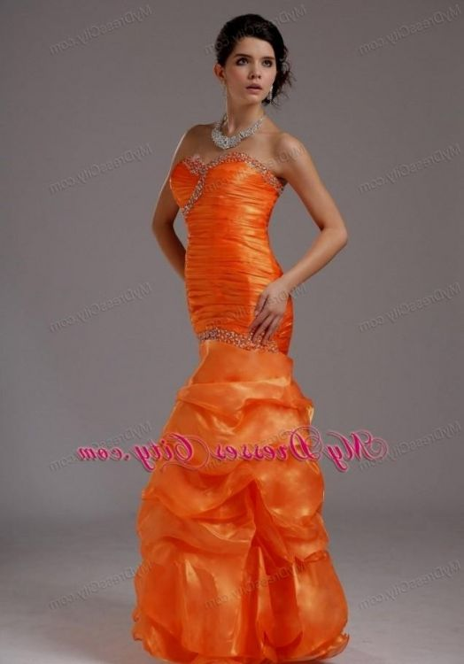 neon orange mermaid prom dresses 20162017 b2b fashion