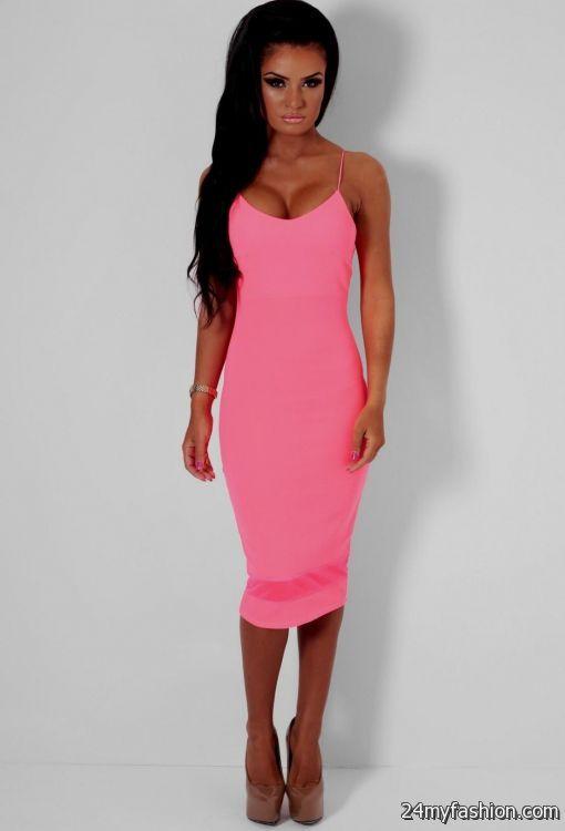 neon pink bodycon dress 2016-2017 | B2B Fashion