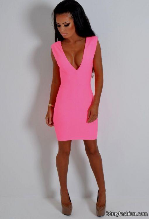 neon pink bodycon dress 2016-2017 » B2B Fashion