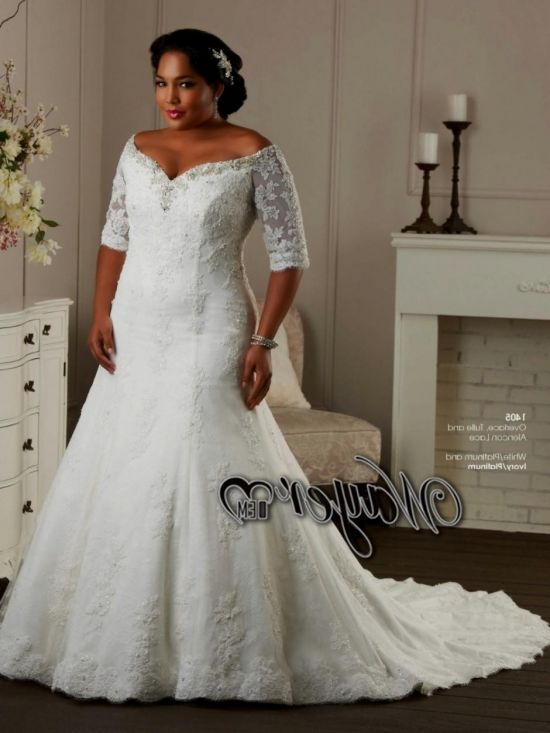 Off the shoulder wedding dresses plus size 2016 2017 b2b for Plus size off the shoulder wedding dress