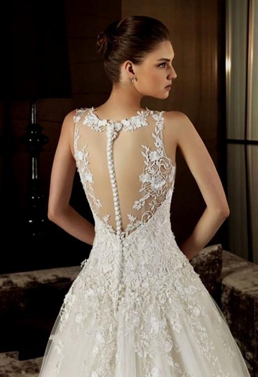 Open Back Lace Wedding Dresses 2016 2017