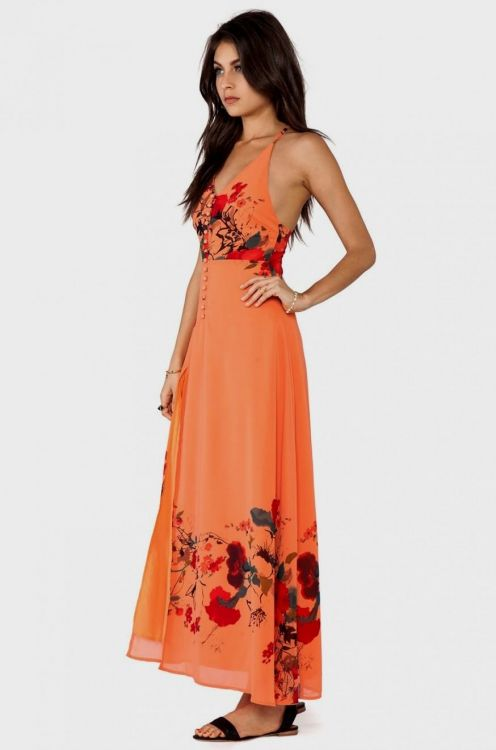 This White and Orange Floral Maxi Dress is so pretty! It features a fabulous floral print throughout the dress and criss cross back detail. It features a fabulous floral print throughout the dress and criss cross back detail.5/5(6).