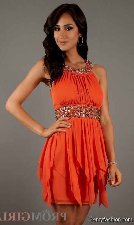559d2849e764 You can share these orange semi formal dresses on Facebook