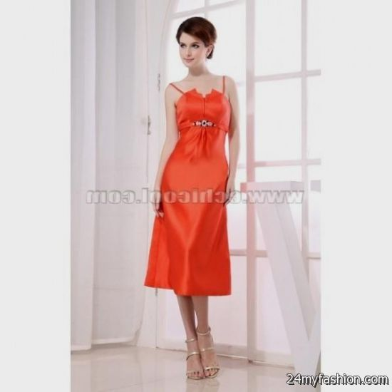 Orange Semi Formal Dresses 2016 2017 B2b Fashion
