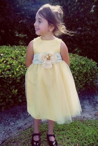 Pale Yellow Flower Girl Dresses 2016 2017 B2b Fashion