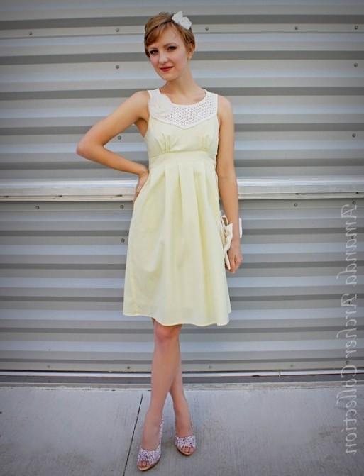 yellow lace dress 2017 - photo #39