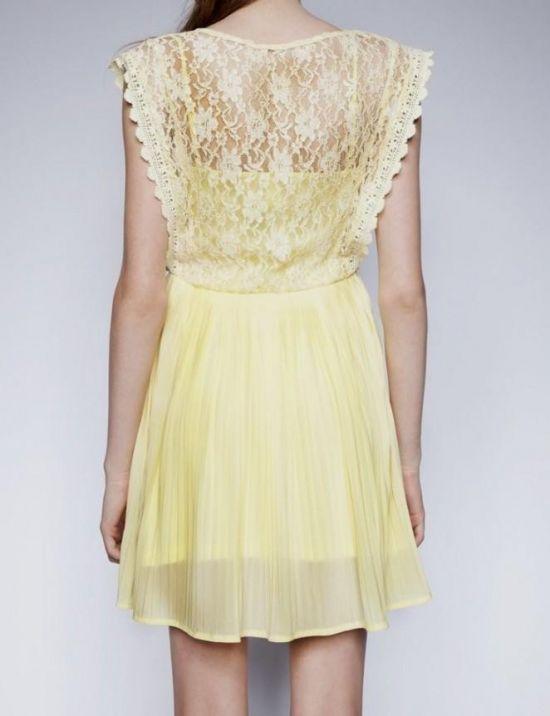 yellow lace dress 2017 - photo #17