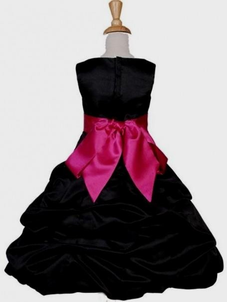 pink and black flower girl dresses 2016-2017 | B2B Fashion