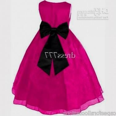 Pink And Black Flower Girl Dresses Looks B2b Fashion