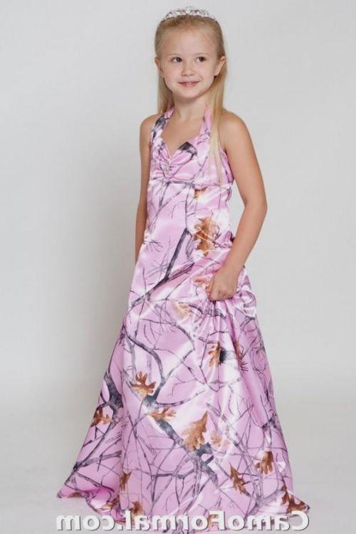 pink camo flower girl dresses 20162017 b2b fashion