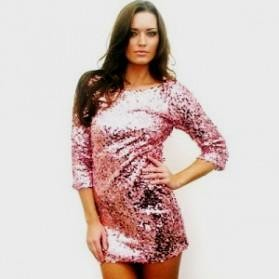 pink sequin dress plus size 2016-2017   B2B Fashion