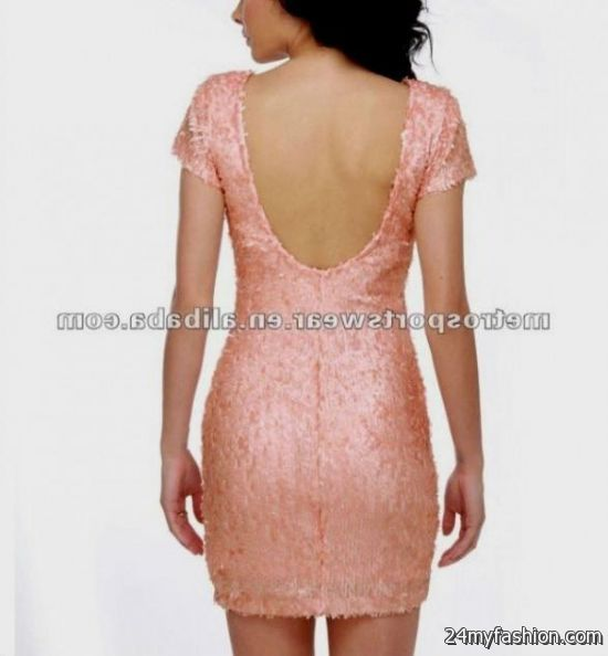 pink sequin party dress 2016-2017 | B2B Fashion