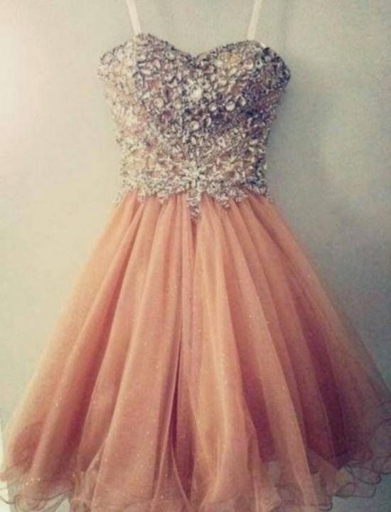 Pretty Pink Short Prom Dresses 10