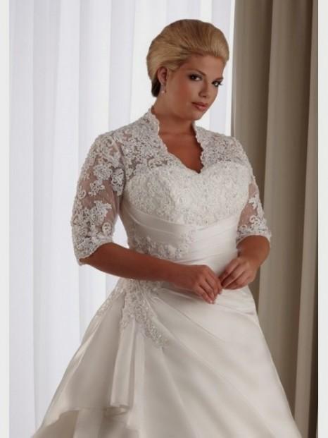 Plus Size A Line Wedding Dresses With Sleeves 2016 2017 B2b Fashion