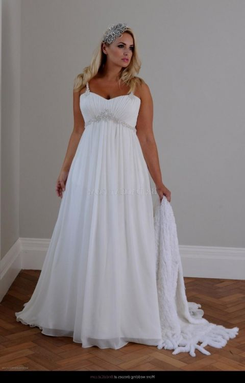 Plus size beach wedding dresses 2016 2017 b2b fashion for Beach wedding dresses for plus size