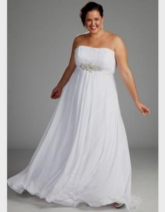 Plus Size Beach Wedding Dresses With Sleeves 2016 2017 B2b Fashion